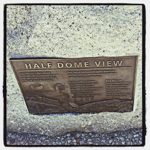 Fall2014 Half Dome Yosemite National Park Lookout (: