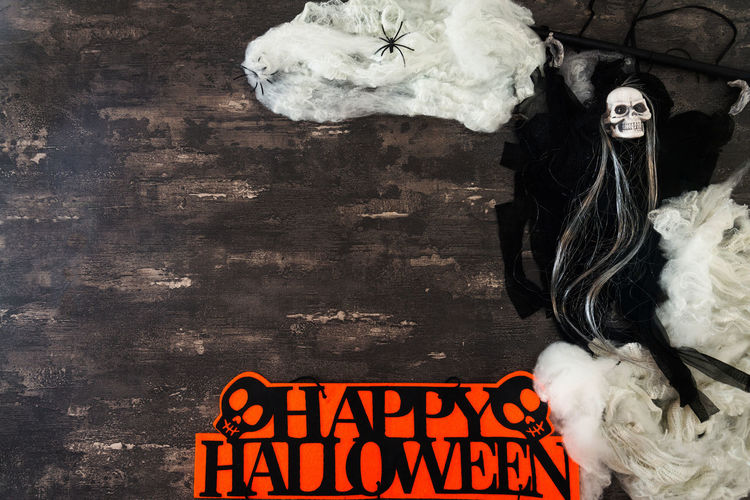 Halloween costume on table