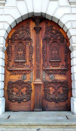 Wood Door Details Knock Knock