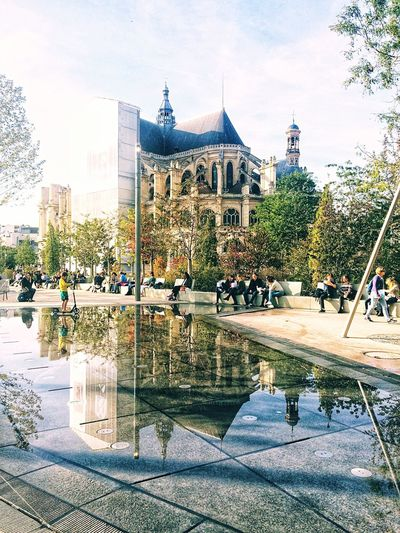 The Week On EyeEm Built Structure Architecture Tree Water Building Exterior Reflection Large Group Of People Real People Day Lifestyles Leisure Activity Men Reflecting Pool Swimming Pool Outdoors Women Sky Nature People Adult