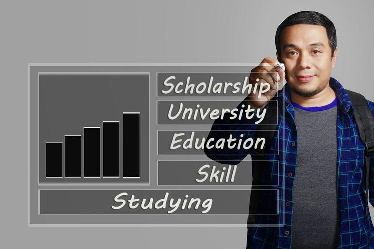 shcolarship concept Education,college,study,man,university,skill,competion
