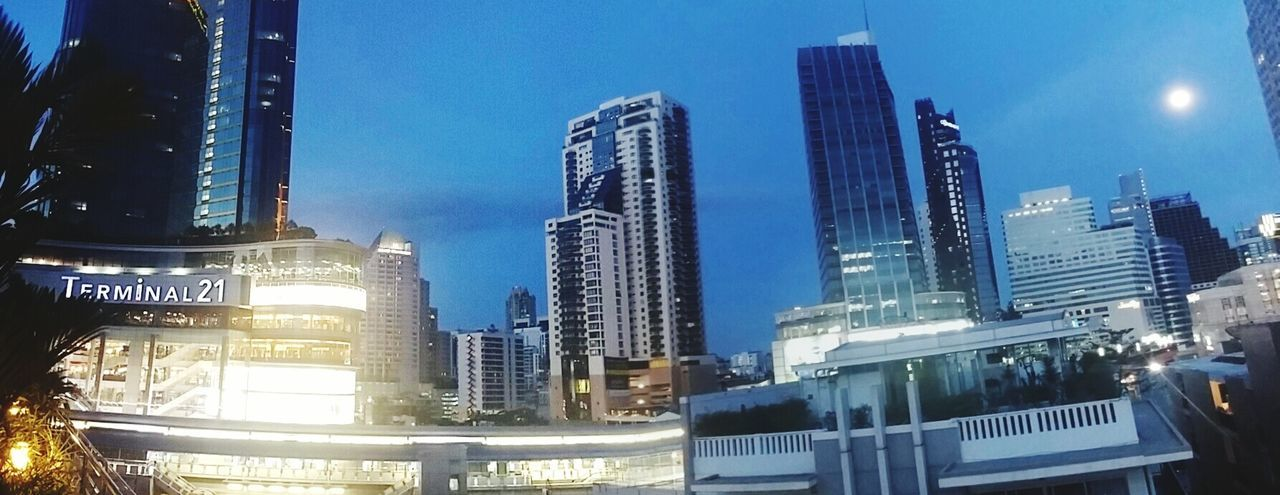 FullMoonLight Vesak day Bangkok Sky