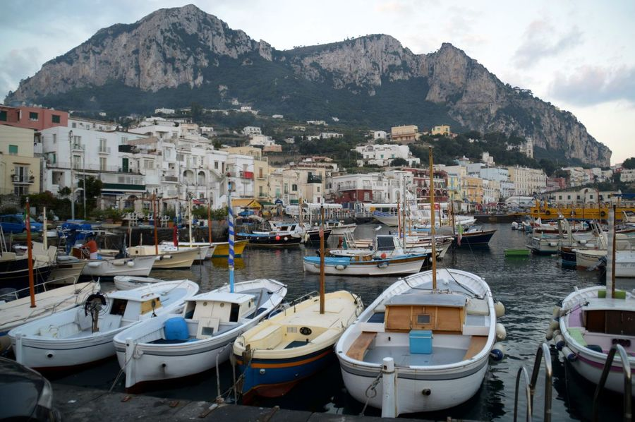 Architecture Capri, Italy Fisherboats  Harbour View Island Italy Mountain No People Town Travel Destinations Water