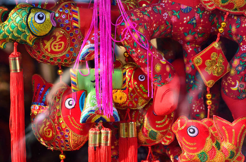 Chinese Culture Cultures Fish Market Market Stall Red Retail