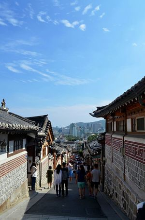 Korea Bukchon Hanok Village Nikon D5100  Seoul Skyblue Sky Traditional Hanok Insadong