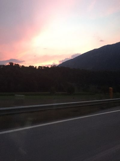 Sky Road Sunset