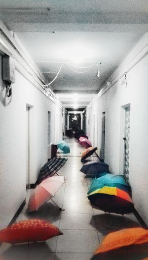 Multi Colored Corridor Architecture