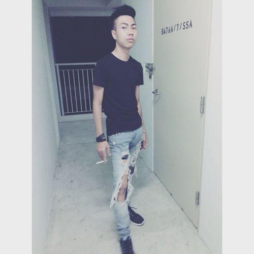 All Ripped Street Fashion Enjoying Life Bad Boy