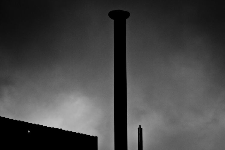 Batory Steelworks / Huta Batory, Chorzów, Poland Architecture Chimney Cloud Cloud - Sky Cloudy Dramatic Sky Dusk Industrial Photography Low Angle View Monochrome Monochrome _ Collection Outdoors Silhouette Sky Structure Tall Technology ındustry Monochrome Photography TakeoverContrast The Great Outdoors - 2018 EyeEm Awards The Architect - 2018 EyeEm Awards