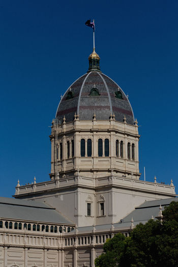 Royal Exhibition Building Against Clear Blue Sky In City