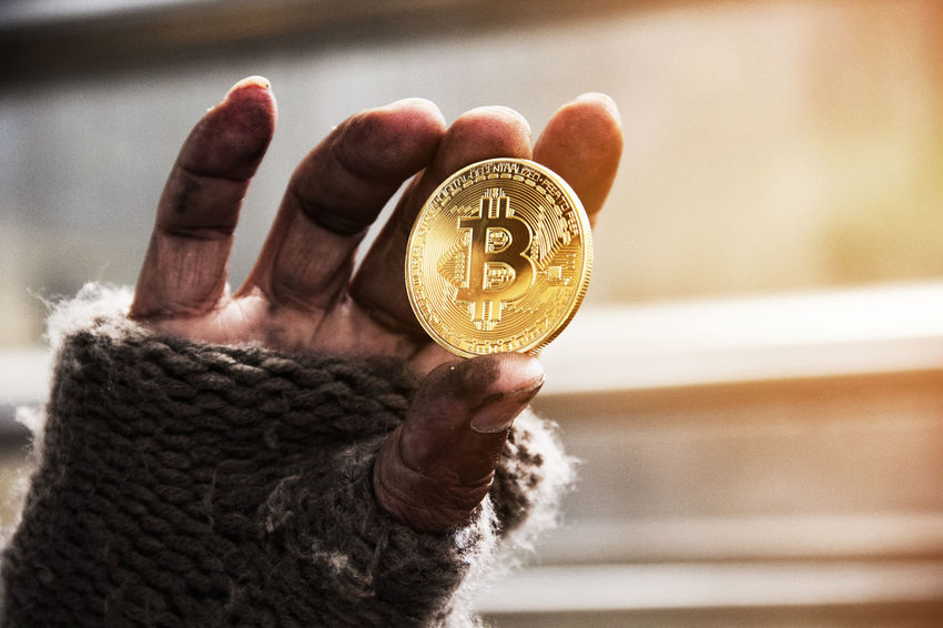 bitcoin mining concept. Business Golden Market Shopping Bank Banking Bitcoin Mining Bitcoin Wallet Coin Concept Crypto Cryptocurrency Exchange Finance Focus On Foreground Gold Gold Colored Holding Human Body Part Human Hand Idea Indoors  Mining Money One Person