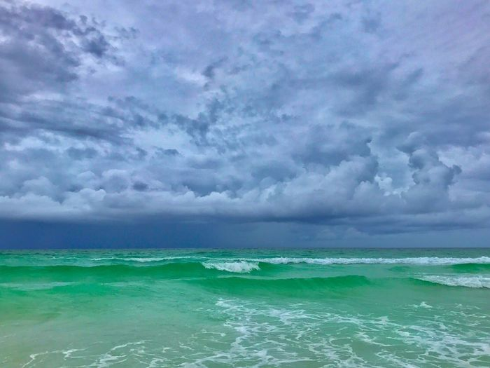 Cloud - Sky Sea Water Sky Beauty In Nature Scenics - Nature Nature Environment Day Horizon Storm Power In Nature Turquoise Colored Wave Motion Outdoors Wind