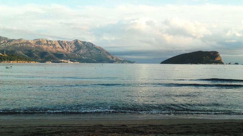 Water Beach Sea Cloud - Sky Mountain Nature Day Sky Travel Destinations Outdoors Landscape Budva, Montenegro Budva Sky And Couds Relaxing Enjoying Life Blue Sky Fresh Blue Colors Likeforlike View Waves Like4like