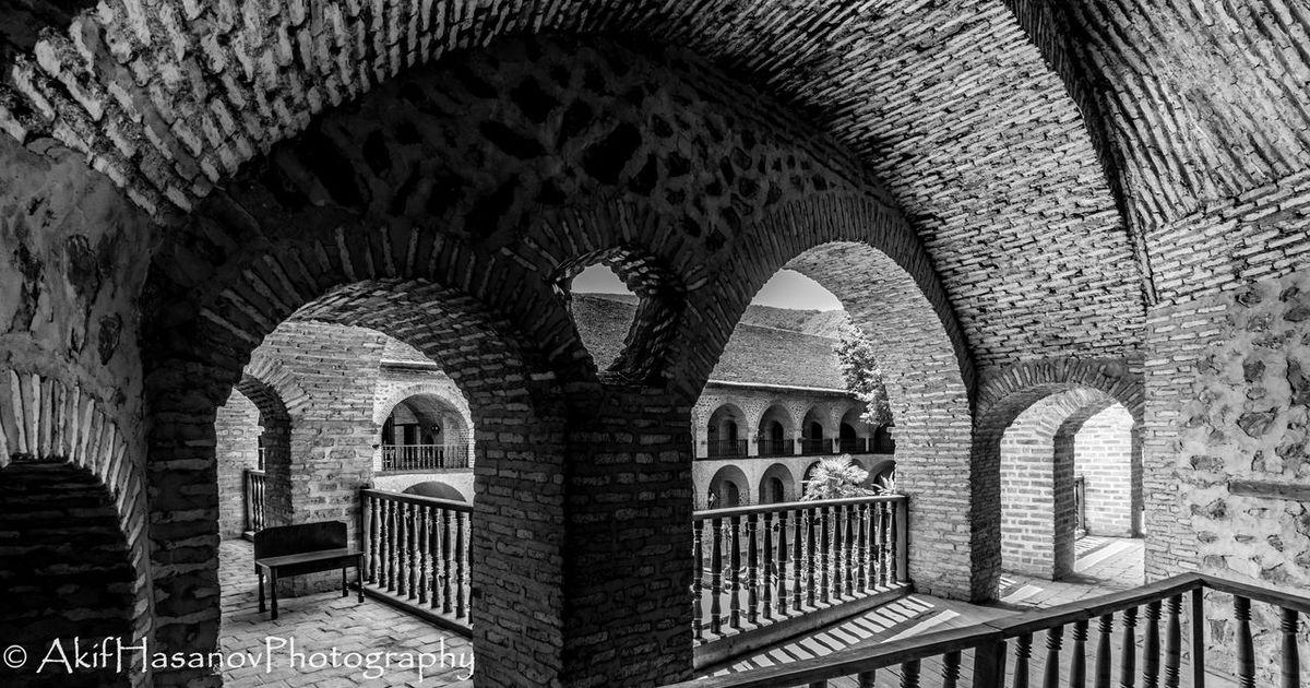Caravanserai Sheki Arch Architectural Column Architecture Built Structure History No People Historical Building