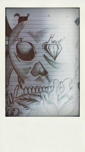 Me Draw Blackandwhite Teschio