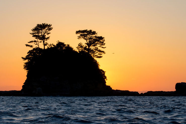 Beauty In Nature Clouds And Sky Island Japan Sea Ship Sunset Woods