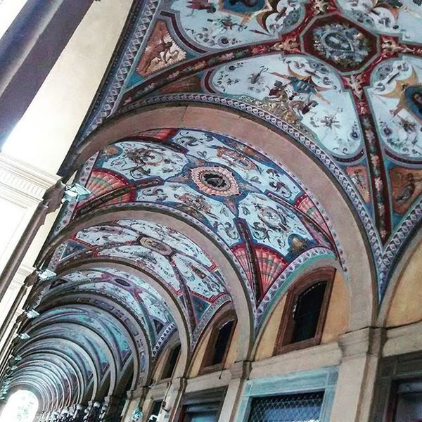Sometime I just wonder what will happen if one day the colours would just disappear. Brightly and abundantly painted Arcades in Bologna IGDaily Igers Ig_bologna Ig_emiliaromagna Ig_art