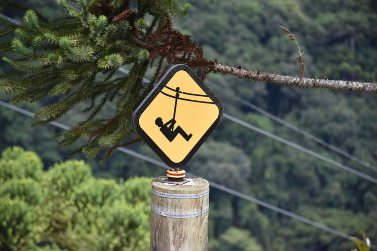 Adventure Nature Outdoors Rope Rope Slide Sign Slide Sports Warning Zip Line
