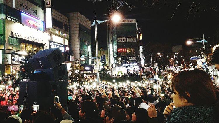 Guerrilla concert by Untouchable in Hongdae street in Seoul Concert seoul korea