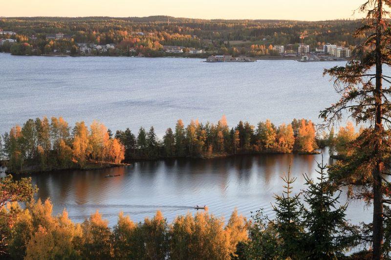 Pyhäjärvi Lake Lake View Rowboat Autumn🍁🍁🍁 Autumn Autumn Colors Suomi Finland Pyhäjärvi Landscapes With WhiteWall The Great Outdoors - 2017 EyeEm Awards