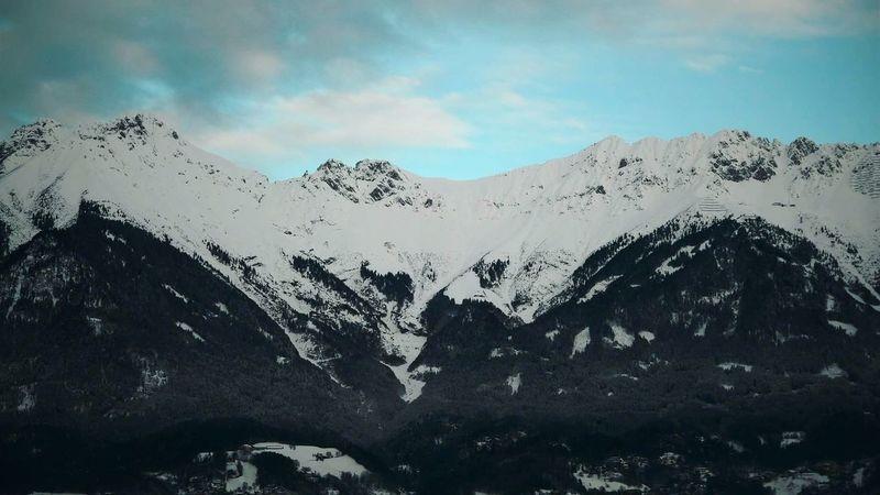 Innsbruck Austria Europe Eurotrip Alps Snow Snowcapped Mountain Impressive View Mountain Scenics Beauty In Nature Outdoors
