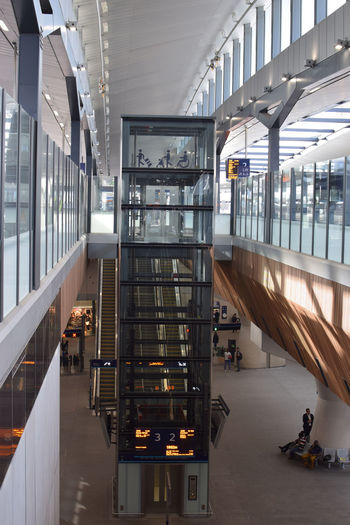 The spectacular London Bridge rail station London Bridge Adult Architecture Building Built Structure Ceiling Escalator Glass - Material Group Of People Incidental People Indoors  Lifestyles Men Modern People Real People Reflection Train Station Transportation Women
