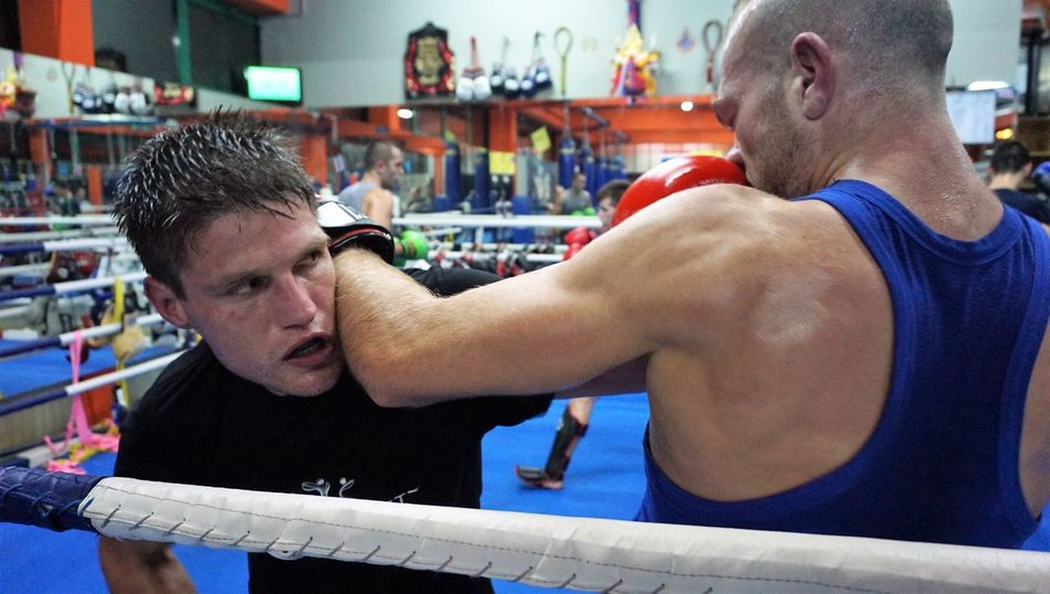 sparring session with Samo Petje Boxing Slovenia Zagreb, Croatia Boxing - Sport Boxing Glove Boxing Ring Eyes Fighting Indoors  Kickbox Training Kickboxing Men Muscular Build Punch Real People Samo Petje Sparring Session Sport