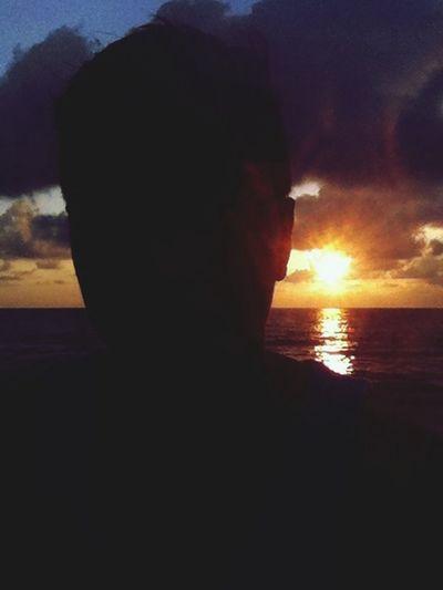 Silhouete sunset