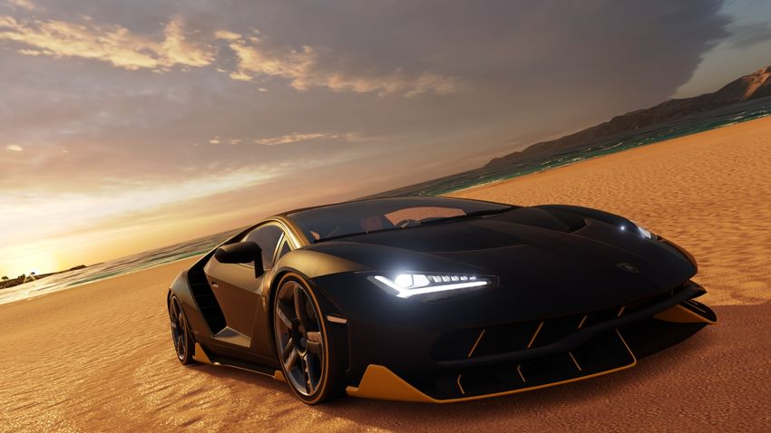 Beauty In Nature Car Centenario Cloud - Sky Day Forza  Horizon Lamborghini Land Vehicle Nature No People Outdoors Sky Sunset Transportation