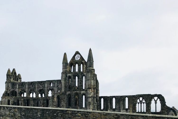 Whitby Abbey Dracula Tourism Sky Built Structure Architecture Building Exterior History The Past Low Angle View Old Ruin Travel Destinations