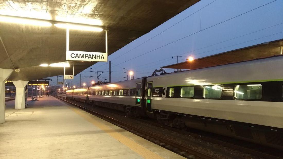 Rail Transportation Railroad Station Public Transportation Railroad Track Arrival Train - Vehicle Sky Travel
