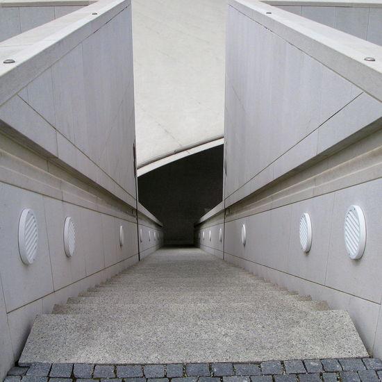 Art Museum Art Museum, Bonn Black Black Color Bonn Art Museum Centered Flight Of Stairs Flight Of Steps Handrails Outdoors Railings Ramp Stairs Steps Stone Handrails Stone Railings Stone Stairs Stone Steps Stone Walls Vanishing Point Walls