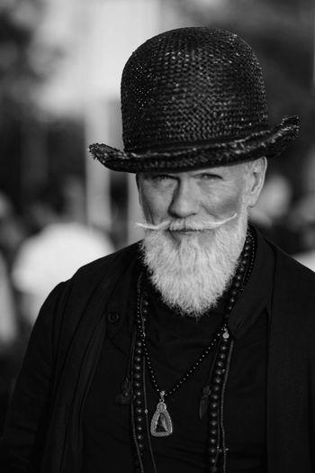 Man with hat Itscontest Fashion Style Icon Model Hat Beard Mustache Blackandwhite EyeEm Best Shots EyeEm Best Edits Vscocam VSCO