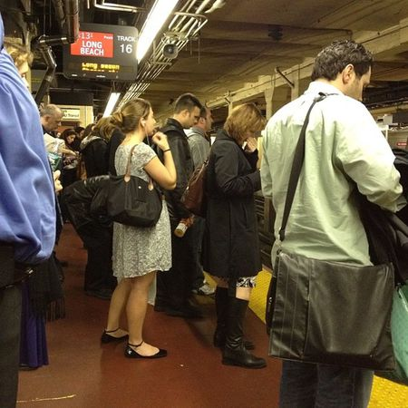 Waiting for the 6:13 to Long Branch. #pennstation #LIRR #commute LIRR  Pennstation Commute
