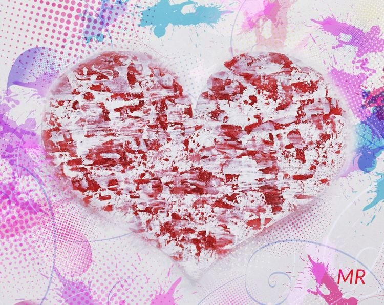 Valentine's Day  Mattroeartist Mattroedotcom Acrylic Painting Digital Art
