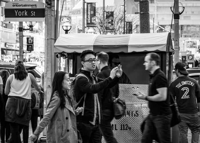York Street Toronto City Streetphotography Blackandwhite Foot Traffic Entertainment District Street Meat Rogers Centre Blue Jays Fan Walking People Nikonphotography Nikon