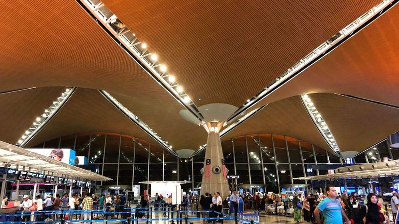 Airport Kuala Lumpur Crowd Large Group Of People Group Of People Real People Architecture Built Structure Men