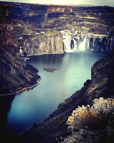Snake River Canyon High Angle View Beauty In Nature Outdoors Nature River Tranquil Scene Idaho Water Falls