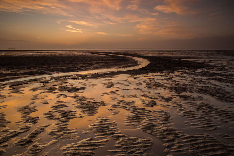 Sand Bay Somerset England Beach Beach Sunset Beauty In Nature Cloud - Sky Coastal Feature Day Horizon Over Water Landscape Nature No People Outdoors Reflection Sand Scenics Sea Seascape Shore Sky Sunset Sunset Reflections Tranquil Scene Tranquility Water