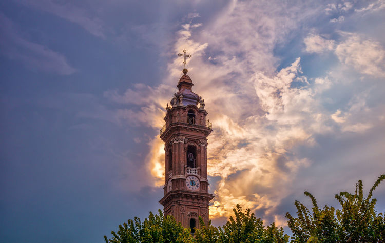 Architecture Bell Tower Building Exterior Built Structure Cloud - Sky Day History Italy Low Angle View Nature No People Outdoors Place Of Worship Religion Saluzzo  Sky Spirituality Travel Destinations Tree