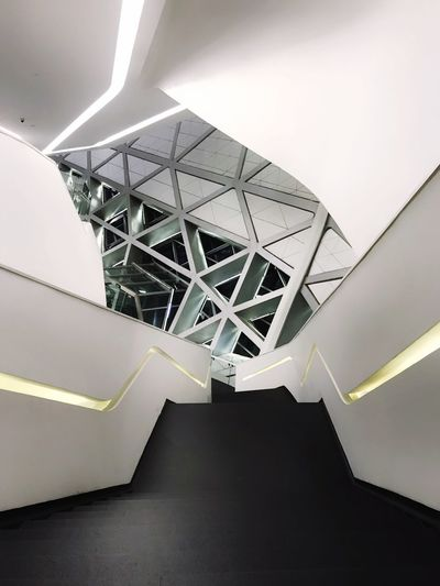 Architecture Indoors  Low Angle View Built Structure Ceiling No People Modern Day Illuminated Close-up