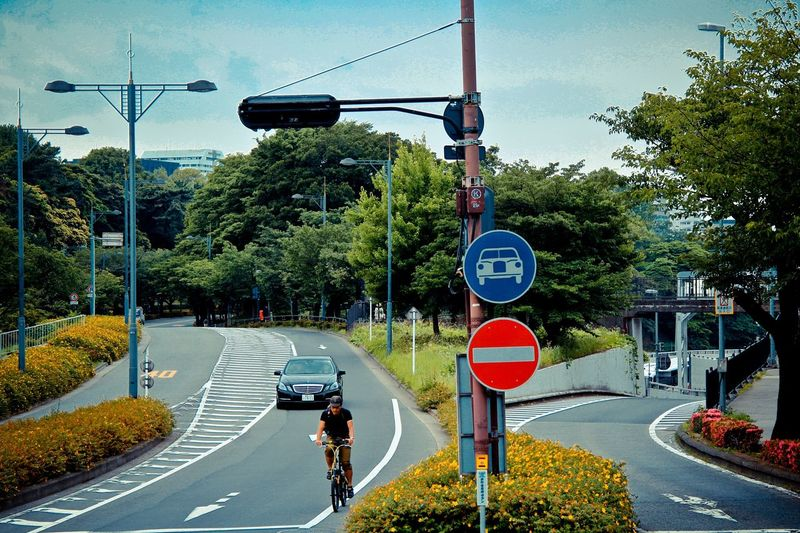 Road Sign Transportation Tree Road Day Street Outdoors Bicycle Land Vehicle Bicycle Lane Sky Real People People City An Eye For Travel