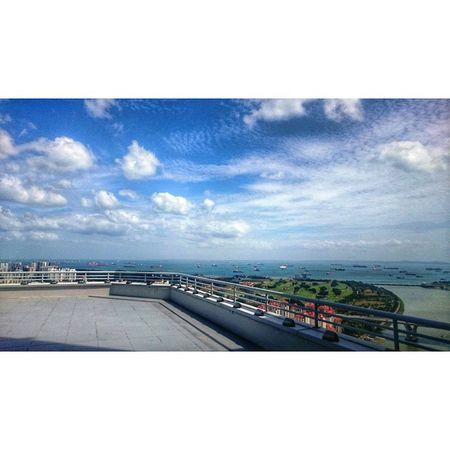 """Sea, City, Sky"" Snapseed HDR Landscape Urban Green City Sea Sky XperiaZ3Compact"