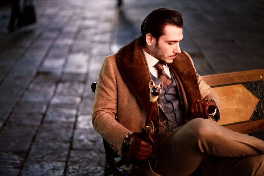 Omer, shooting in the night in Florence Classic Elegance Everywhere Lifestyles Night Nightphotography Outdoors Real People Style Stylish Young Men