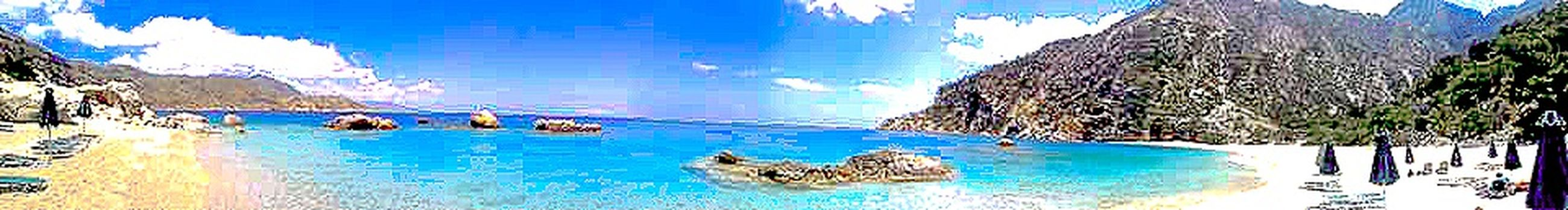 Panoramas Sea And Sky Water Blue Day Outdoors Sea Sea Life Swimming Sky Sunny Day Sunny Funny Relax Chill Swimming Pool Reflection Pattern Animals In The Wild Animal Wildlife Animal Themes No People Nature Mammal Pixelated