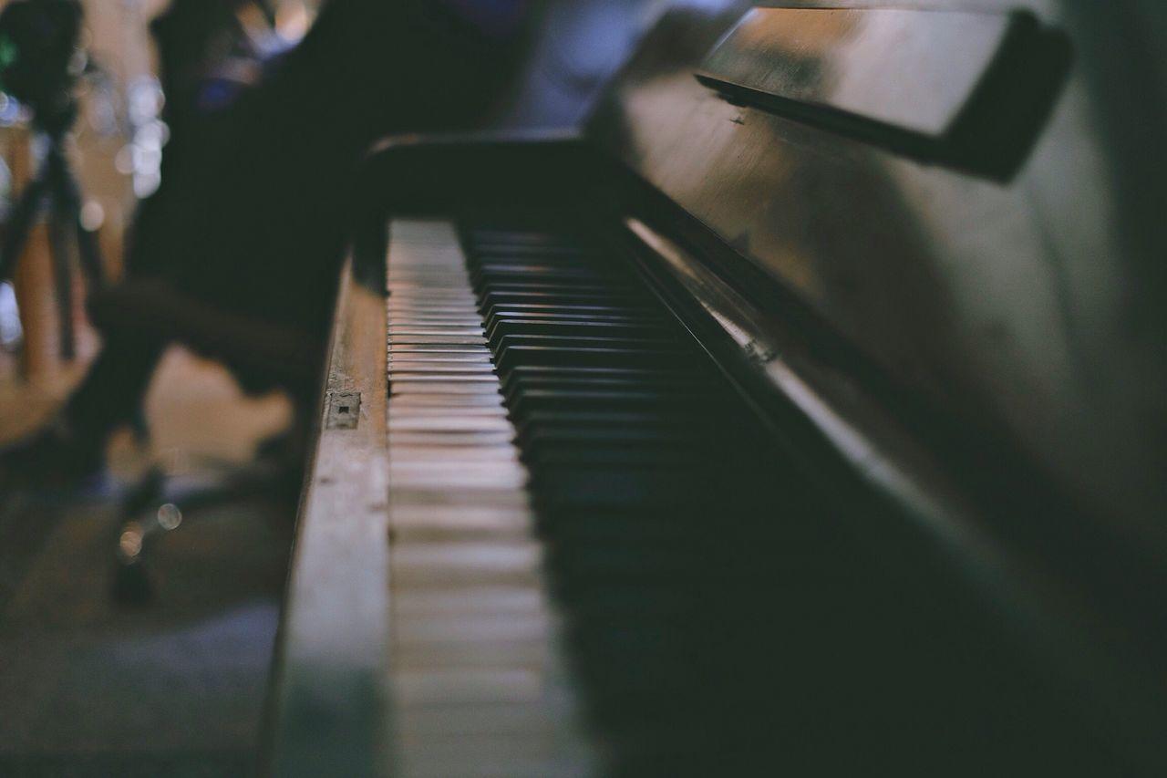 Close-up of piano