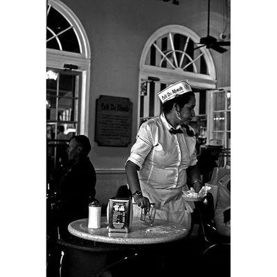 Waitress Cafedumonde Neworleans NOLA Thisisneworleans louisiana streetportrait streetphotography blackandwhite bnw monochrome 35mm canon travel yearoftravel photooftheday food