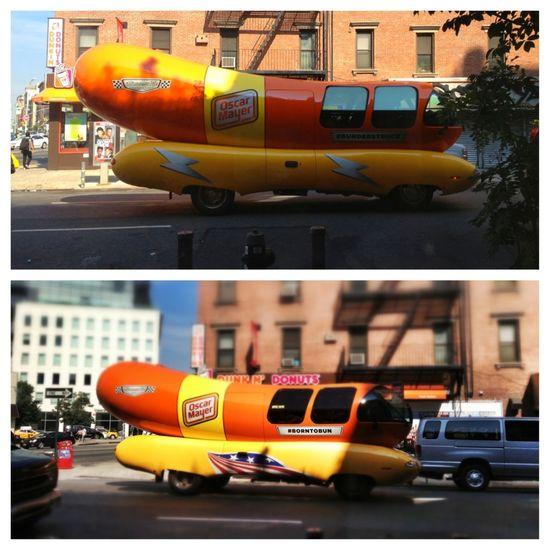 Wienermobile 1 & 2 Thingsyouseewhilehavingacoffee  NYC