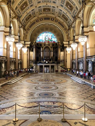 Great Hall with Minton Floor uncovered Architecture Arch Built Structure Indoors  Travel Destinations Building Illuminated
