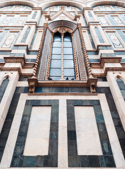 Low angle view of ornate building santa maria novella in florence